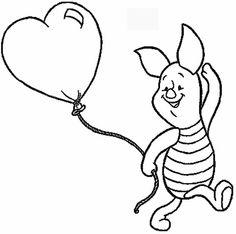 A cheerful valentine coloring page