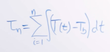 Image of equation number two for finding thermal time