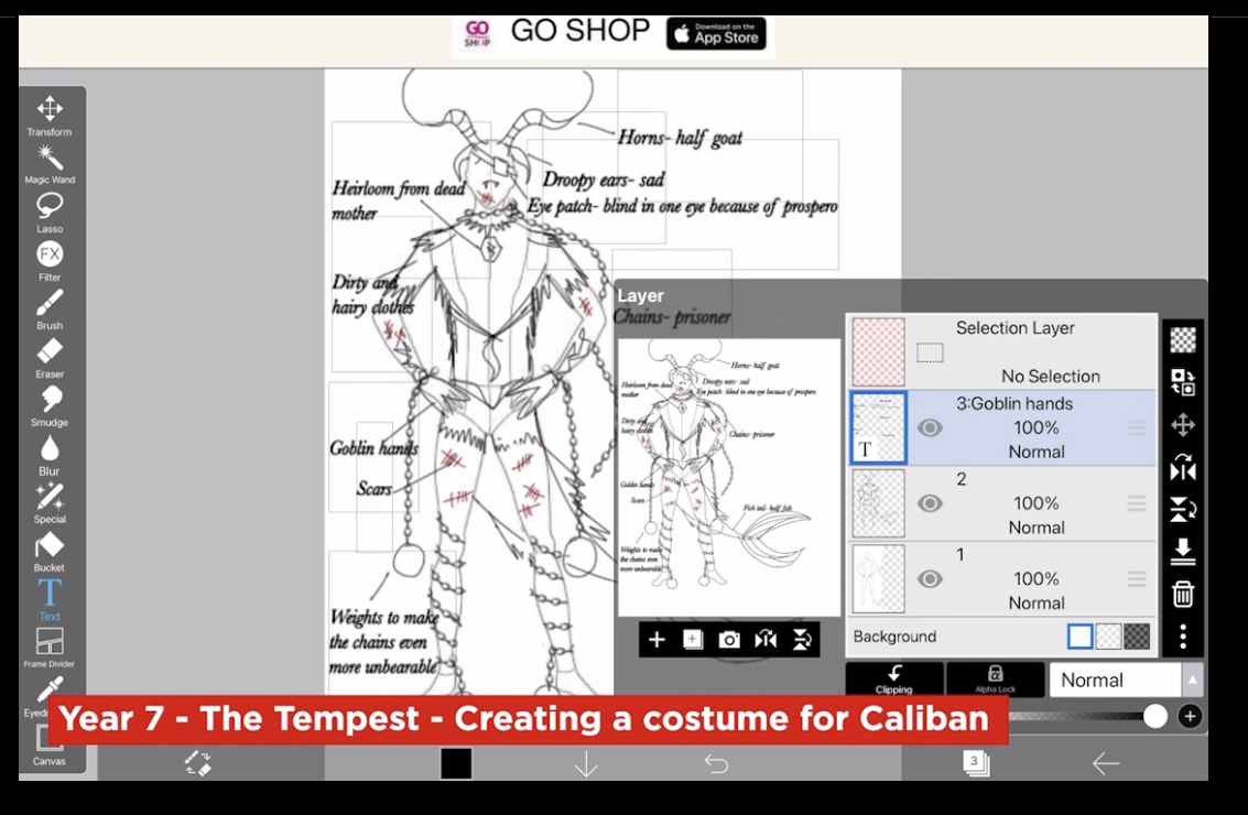 Creating a Costume for Caliban
