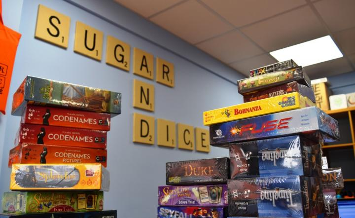 Pile them high, play them for free. New arrivals at Sugar and Dice