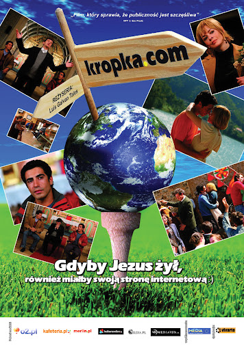 Polski plakat filmu 'Kropka.com'