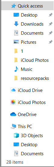 File Explorer download locations