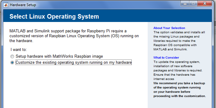 Matlab and Simulink don't currently support Ras