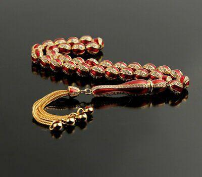 Islamic Prayer Beads, Made of 925 sterling silver tesbih, 8 mm tasbih, 33  beads | eBay