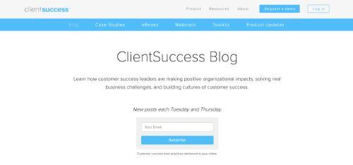 Screenshot of ClientSuccess's blog