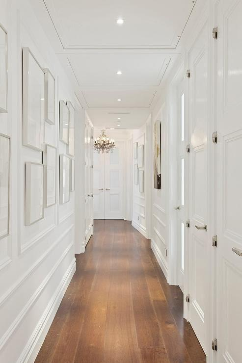 All-White Narrow Hallway Wall
