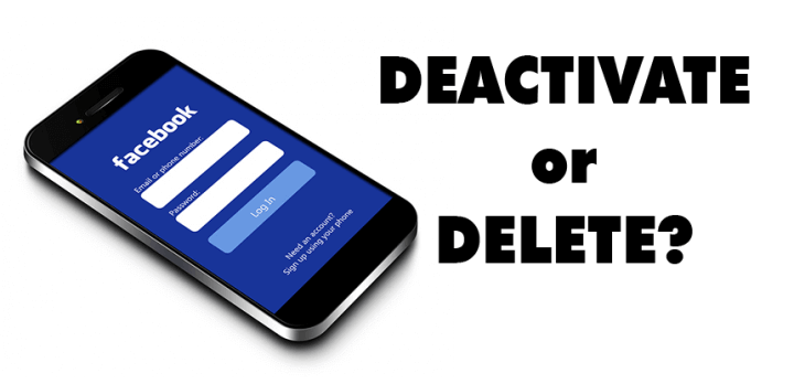 What is difference between deactivate and delete?