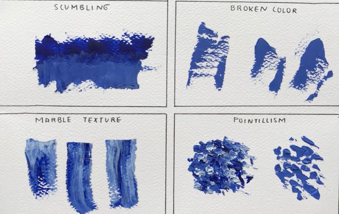 palette knife types of textures