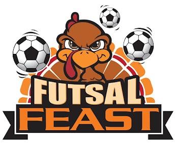 The awesome Futsal Feast logo - that's one tough turkey!