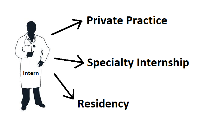 The Vetducator - Image of intern going to private practice, specialty internship, or residency.