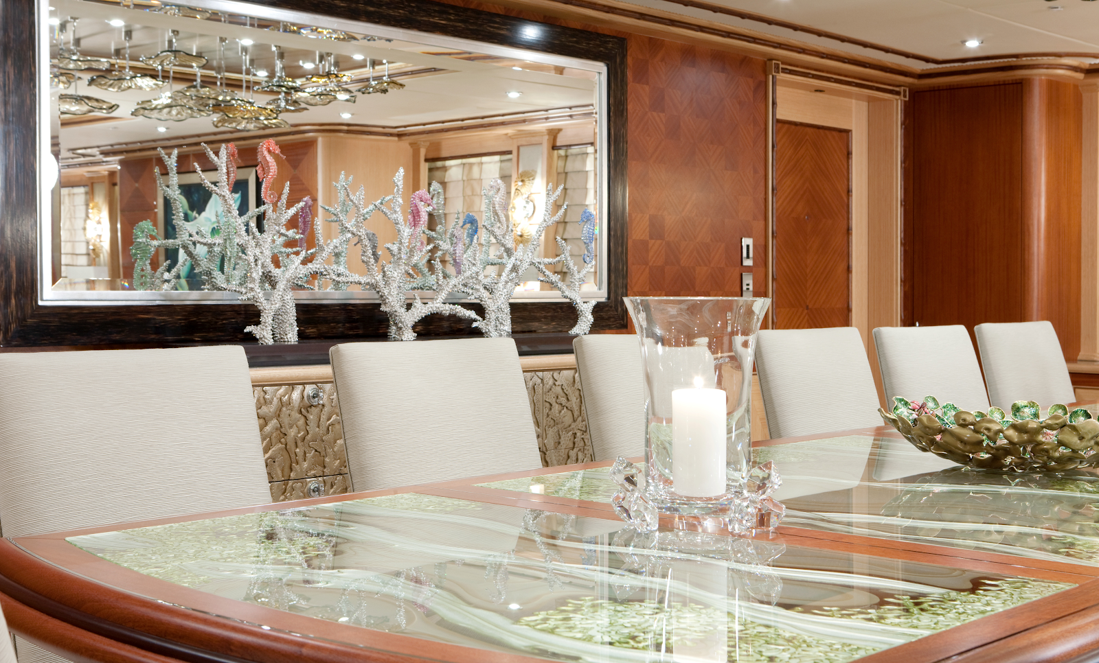 Rendering of a Stateroom in a Superyacht.