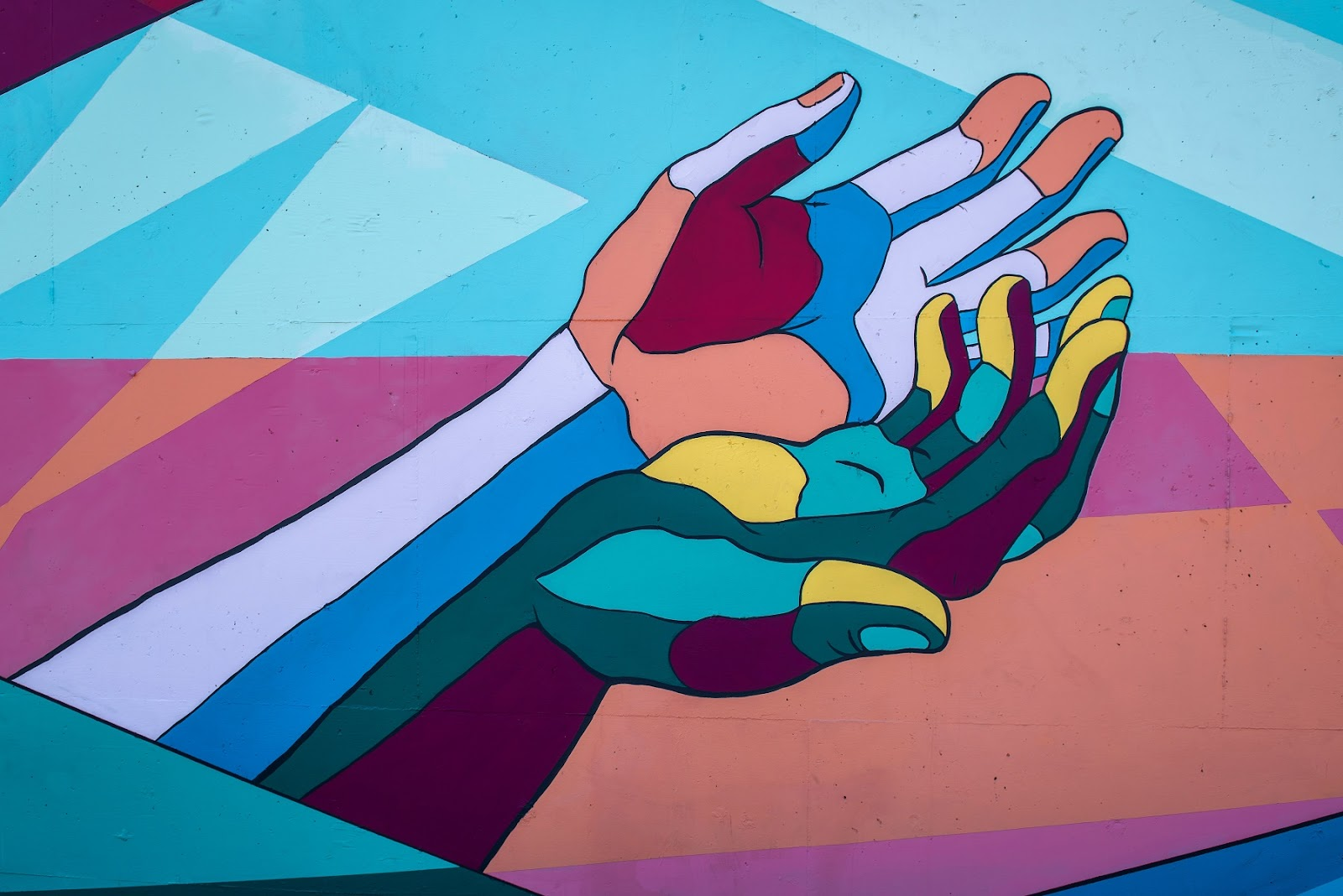 two hands reaching out. best msp practice support