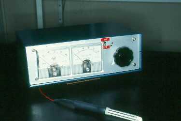 A custom made electroejaculator