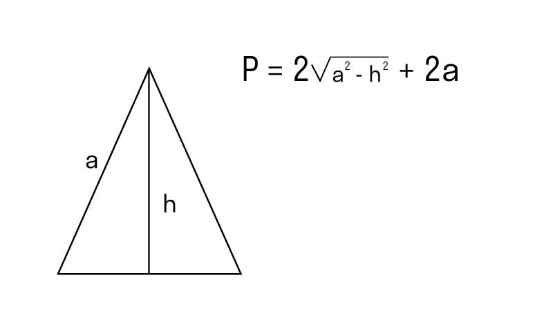 равнобедренный треугольник с известной высотой