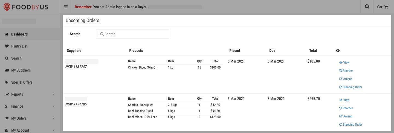 FoodByUs_dashboard_upcoming_orders