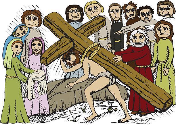 Image result for jesus on cross cartoons