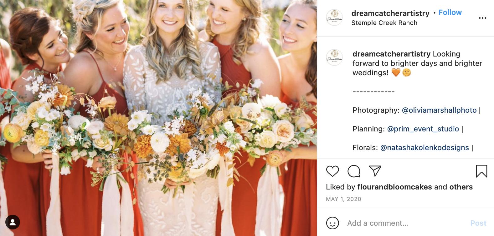sunset colors bridesmaid portraits