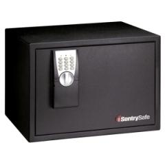 Sentry Safe PE1: Electronic Lock Security Safe 1.20 ft3 Electronic Lock Overall Size 12.2 x 16.9 x 13.8 Black