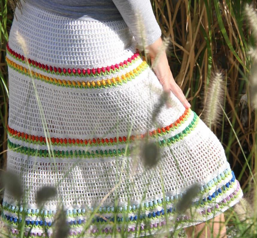 skirt tulips crochet pattern
