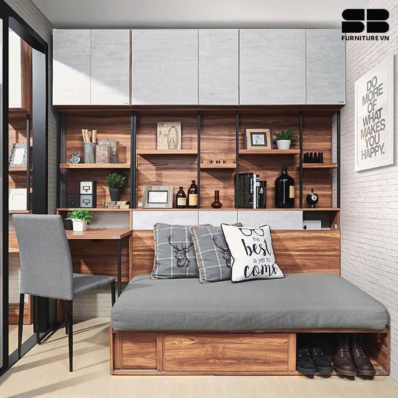 Giường gỗ công nghiệp đáp ứng tiêu chuẩn E1