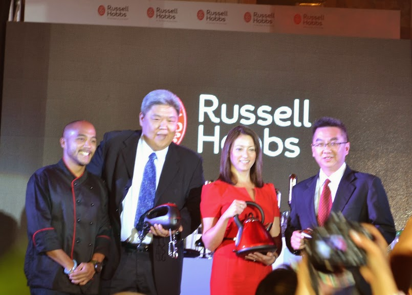 Russell Hobbs Brand's endorser, Chef JP Anglo, Pres. of TOCOMS Phils. Clarence Cu, Sally Sidani DVP Int'l. Mktg., and Mr. Patrick Leow, commercial director of Asia.