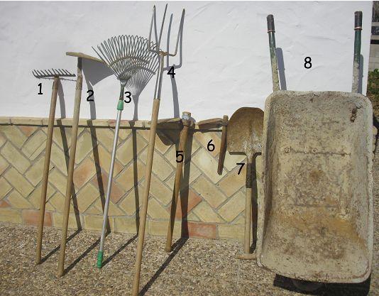 Las herramientas el huerto escolar for Herramientas que se utilizan en un vivero