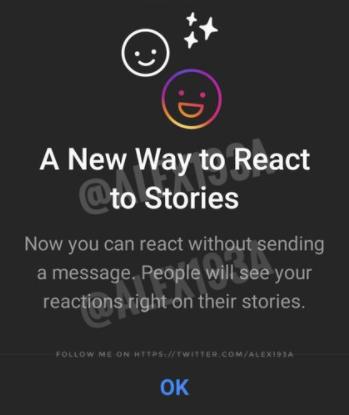 Histórias do Instagram reagem
