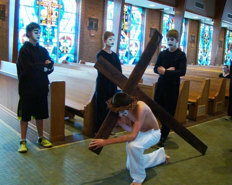 P:\Staff\Public Relations on Server\2016-2017 school year\8th way of the cross\fallen 1.JPG
