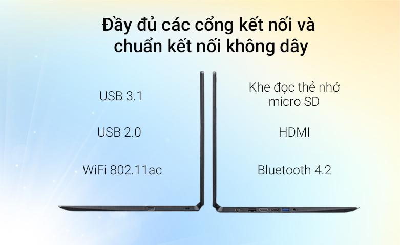 Laptop ACER Aspire 3 A315-56-502X (NX.HS5SV.00F) | Đầy đủ các cổng kết nối