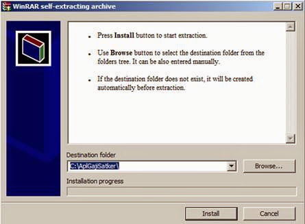 Klik dua kali file  AplikasiRevisiGPP-09-06-2014-Satker.exe  - pilih install