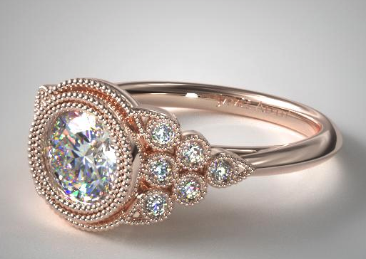 Beaded Bezel Set Diamond Ring from James Allen