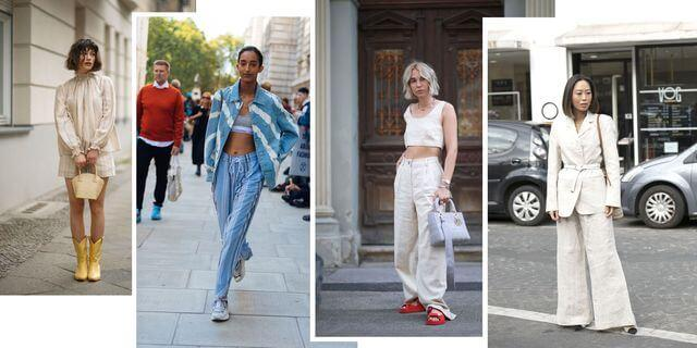 Different styles of linen pants