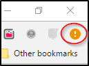 Orange Circle Chrome Permissions Notification Icon