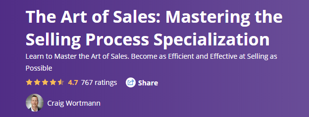 free sales training resource - Course, The Art of Sales