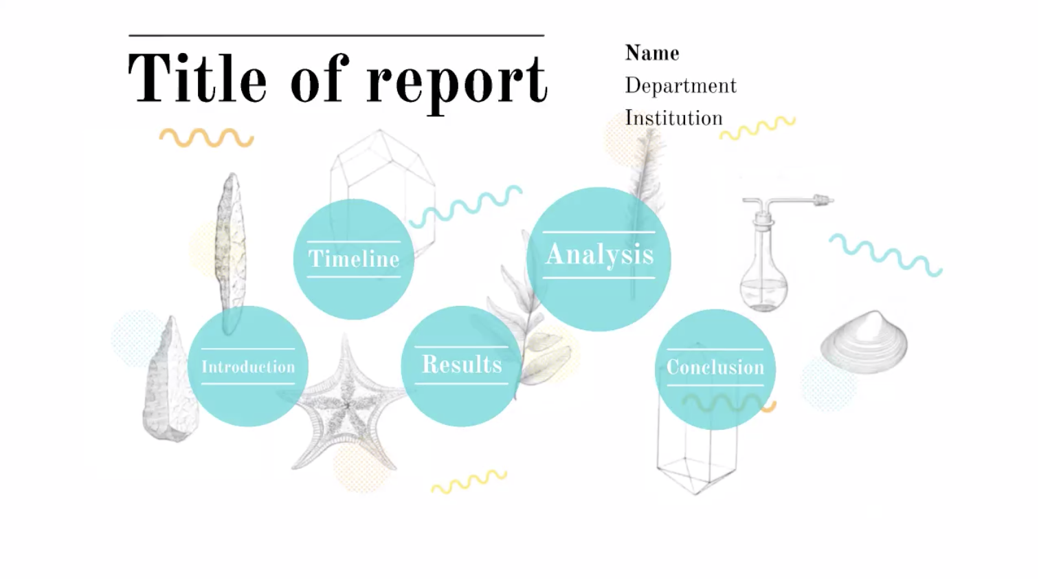 An illustrated Prezi template whenever you need to report on results or data.