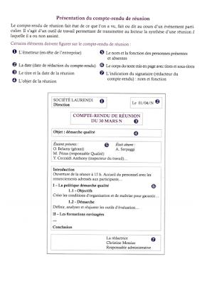 Compte Rendu De Réunion Bac Pro Gestion Administration