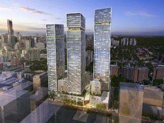 Looking northwest, Resubmission, 245 Queen Street East, Arquitectonica, ONE Properties