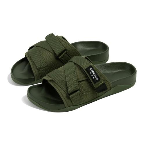 """CARNIVAL AVENTURER SANDALS OLIVE"" รองเท้าแตะ Outdoor Style 05"