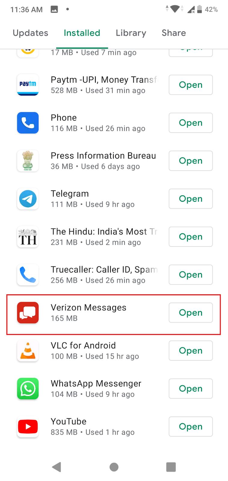 Update The Messaging App