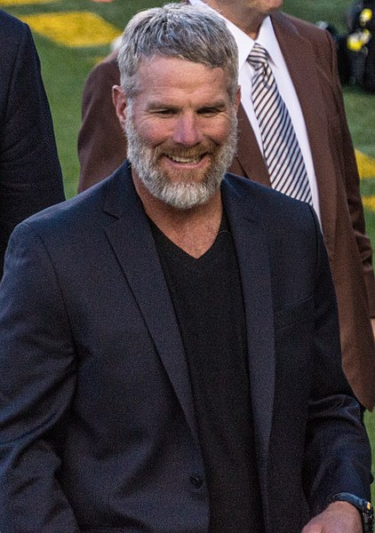 Brett Farve at a football event.
