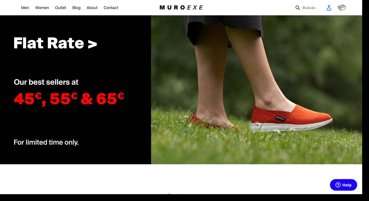 Muroexe website screenshot footwear and clothing brand Ecommerce Website Designs