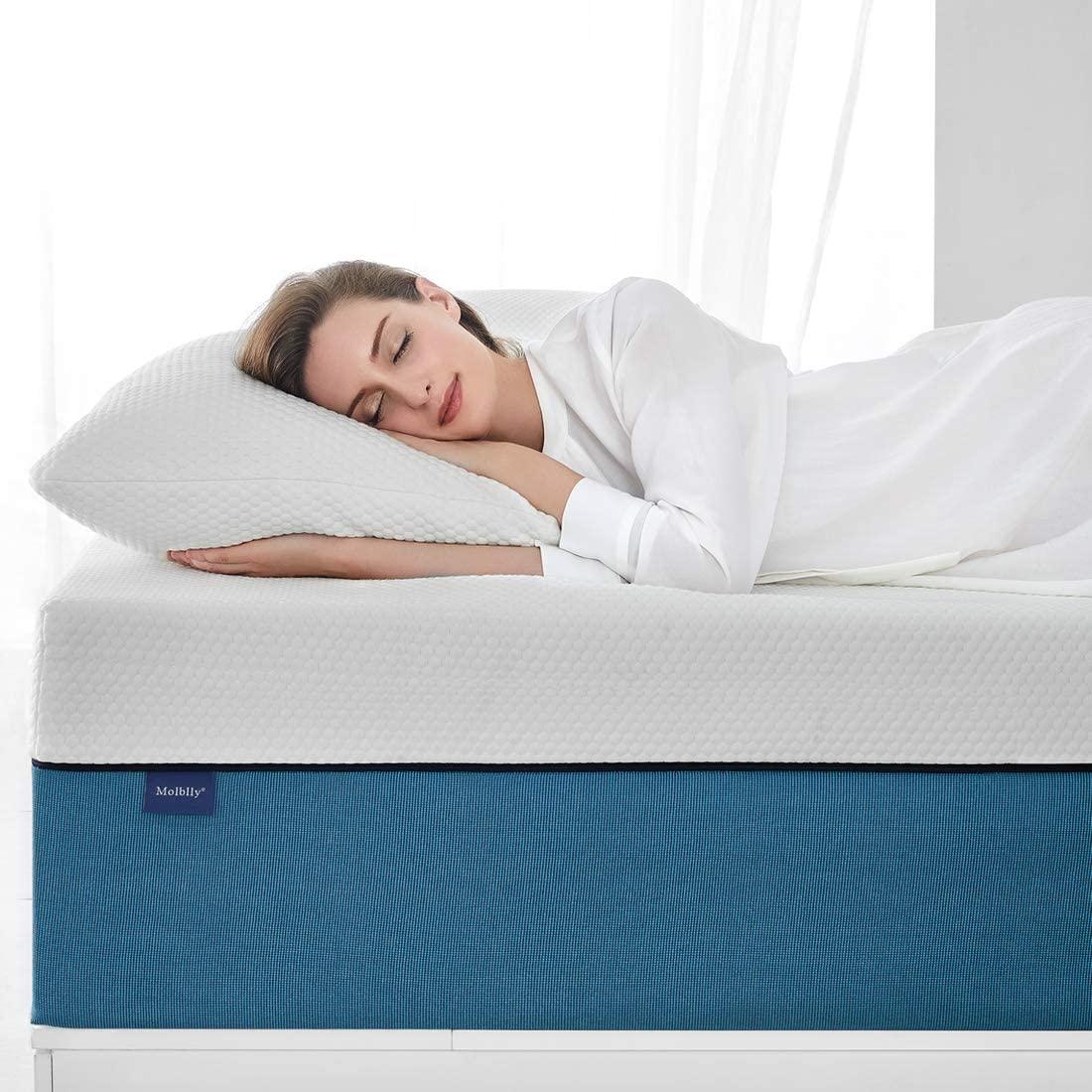 Molblly 10 inch Cooling-Gel Memory Foam Mattress in a Box