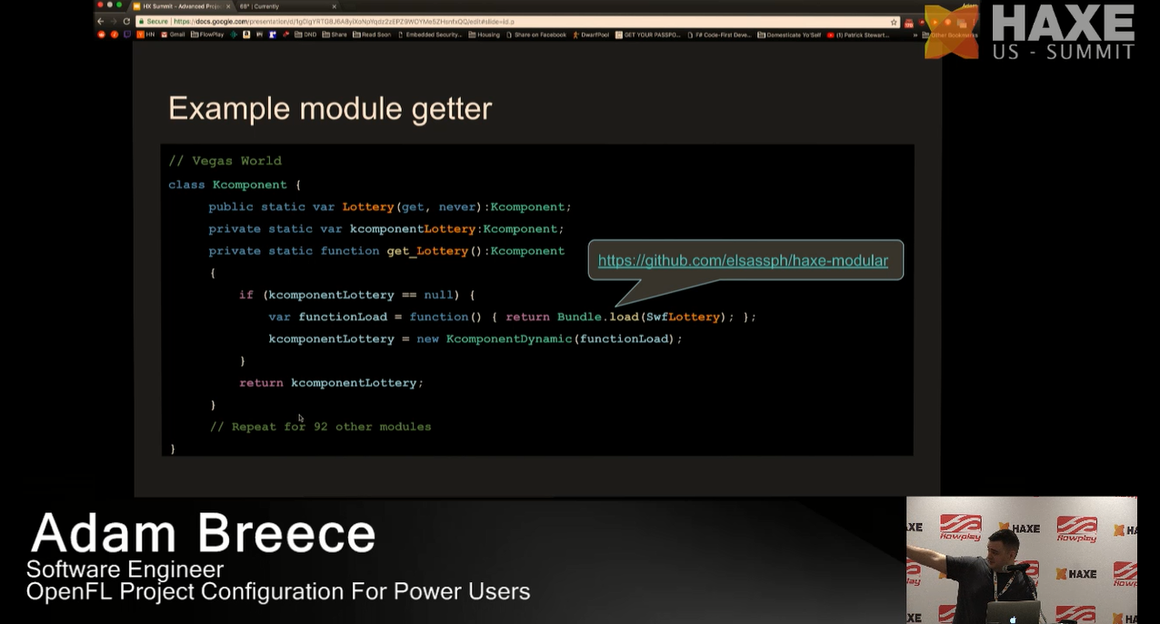 Example module getter