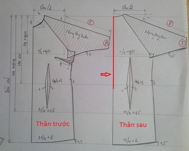 Hướng dẫn cắt may áo dài cách tân đơn giản nhất ai cũng có thể học