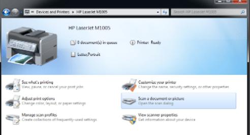 Procedimiento ¿Cómo instalo el escáner HP LaserJet M1005?