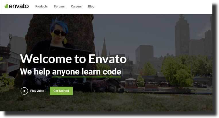 Envato website design