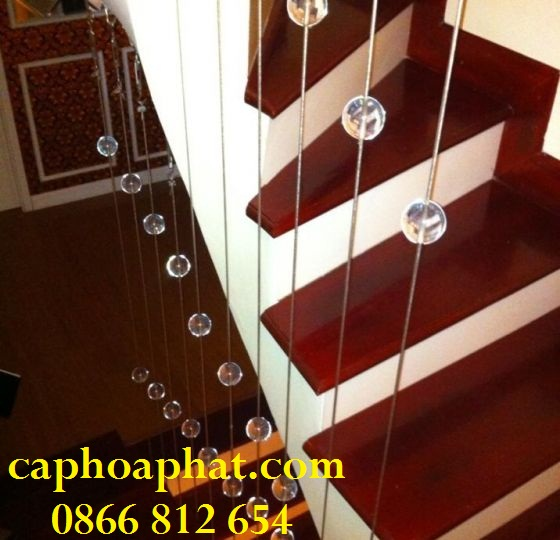 Cầu thang dây cáp giúp điều hoà không khí trong nhà