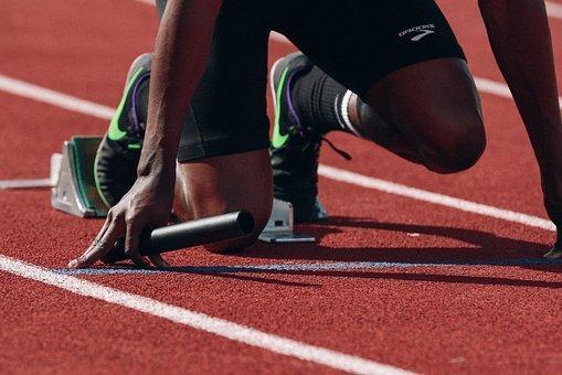 Atleta, Corredor, Sprint, Rápido, Negro