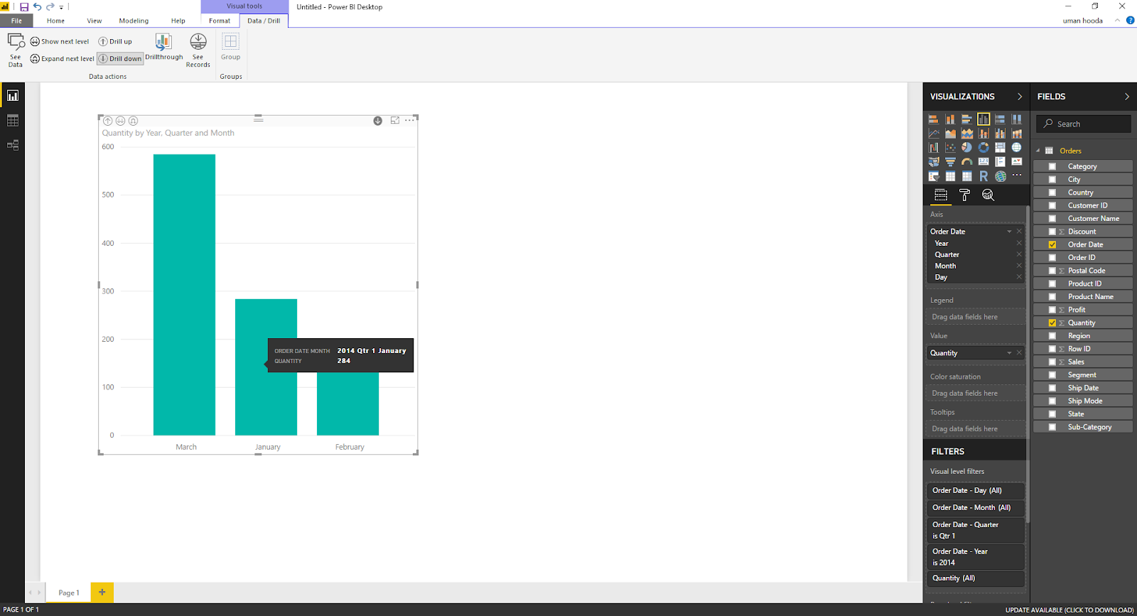Drill In / Out on Your Data For Different Dates In Microsoft Power BI 35