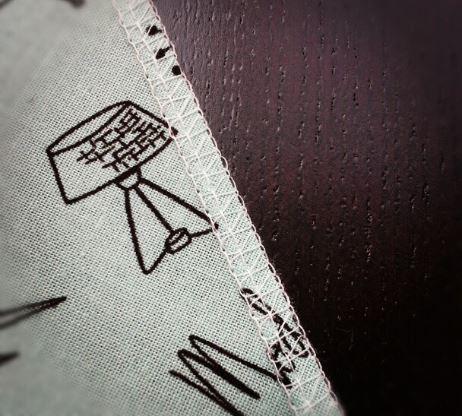 A Serged Hem on Printed Fabric